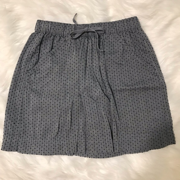 Merona Dresses & Skirts - Merona Chambray Polka Dot Tie Skirt